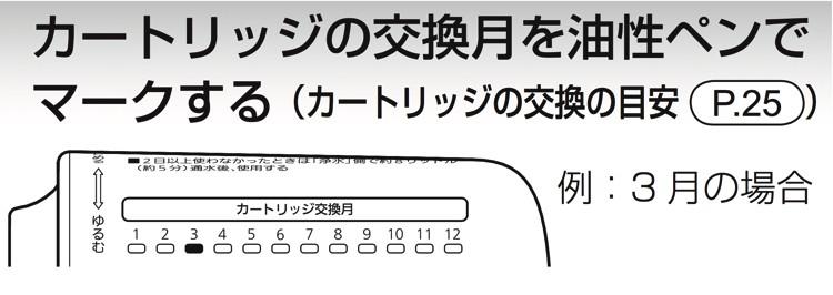 tk-cj12は交換時期をペンで記入しておく必要がある