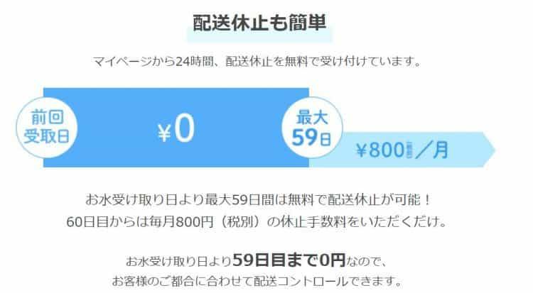 日本の山水の配送休止方法