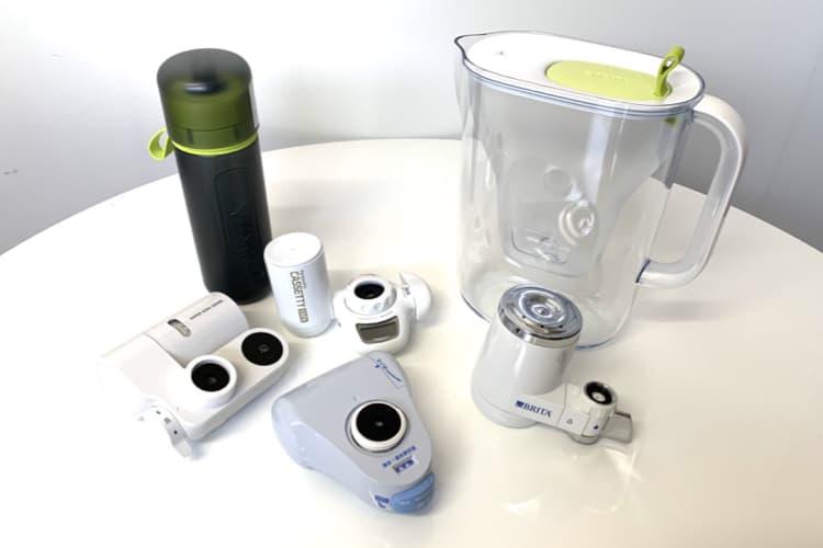 様々な種類の浄水器の写真
